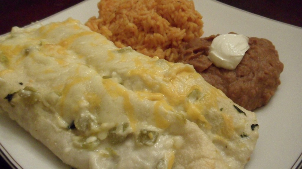 Chicken and Spinach Enchiladas with Sour Cream Chile Sauce « Well ...