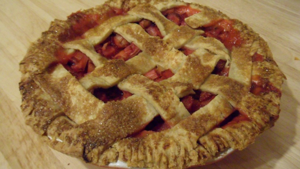 Strawberry Rhubarb Lattice Pie « Well Dined