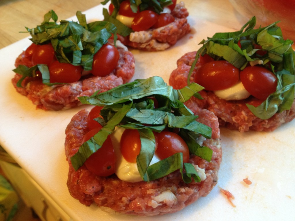 Well Dined | Caprese Stuffed Burgers