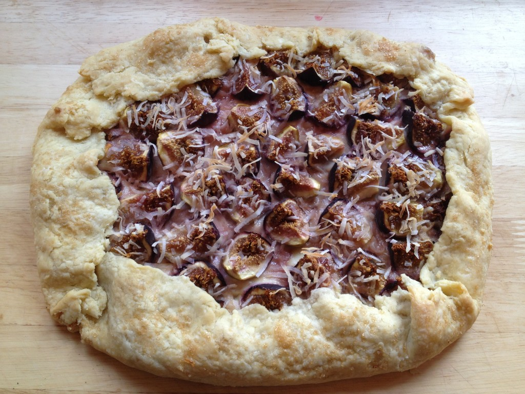 Well Dined | Fig, Mascarpone, and Goat Cheese Galette with Coconut