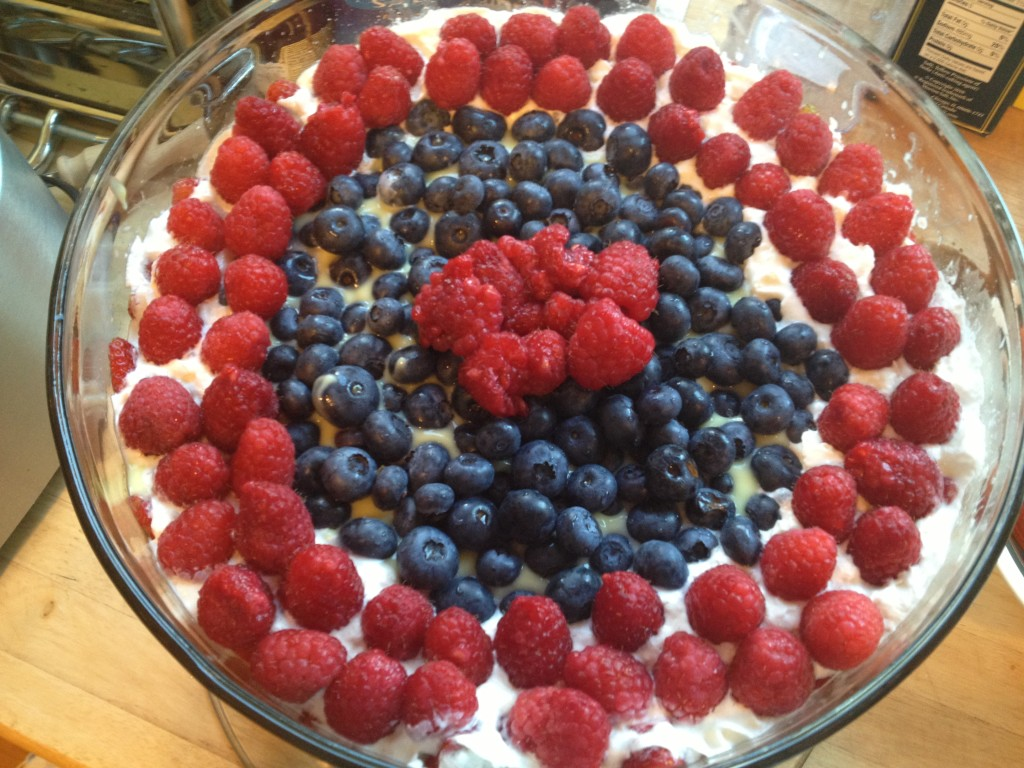 Well Dined | Red, White, and Blue Trifle