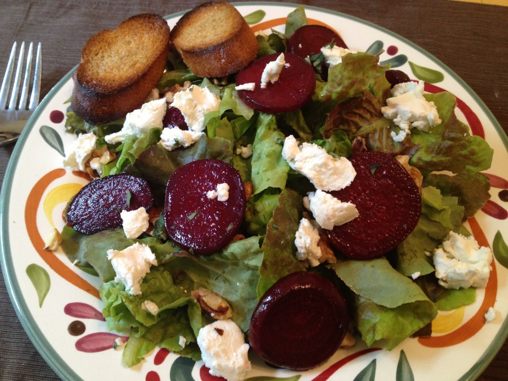 Well Dined | Roasted Beet Salad with Goat Cheese