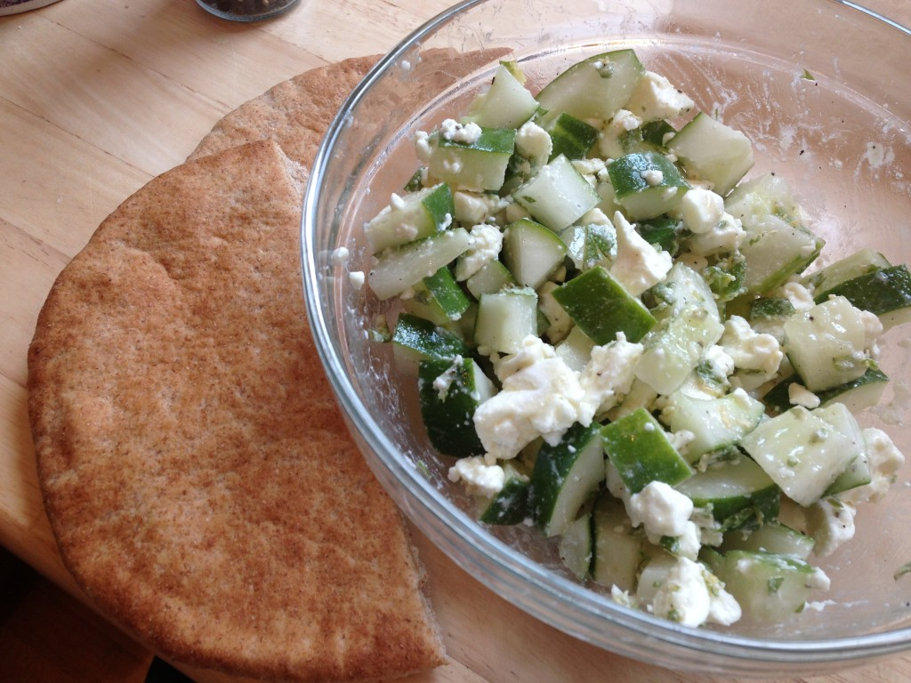 Well Dined | Cucumber Feta Pitas