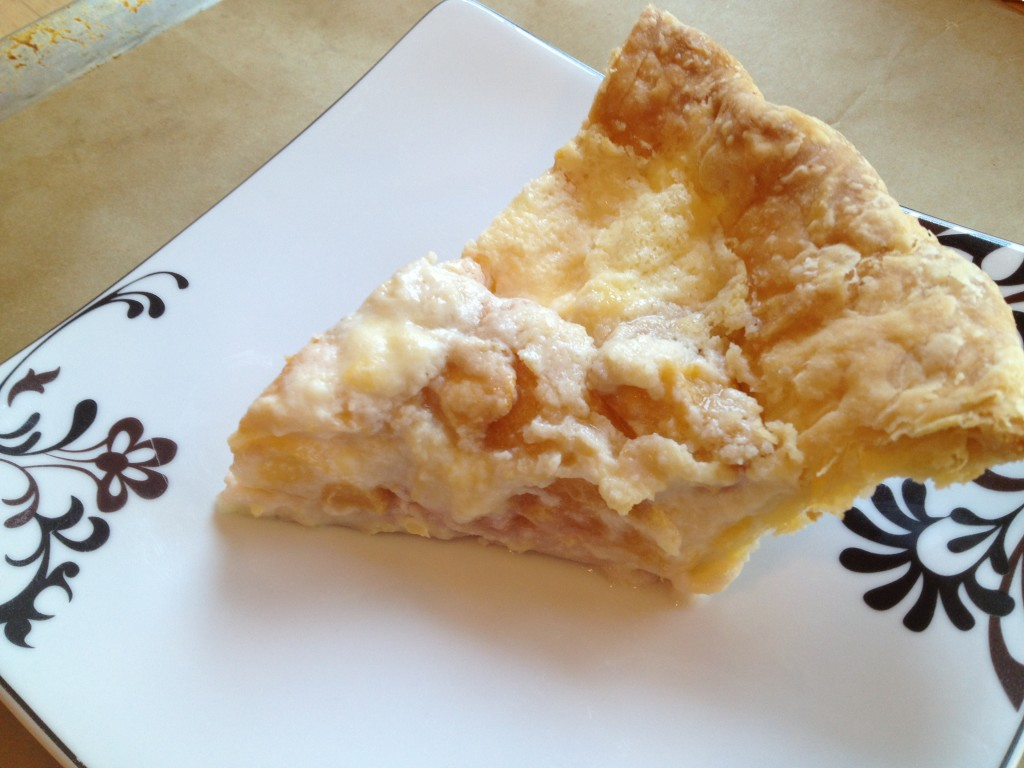 Well Dined | Peach and Creme Friache Pie