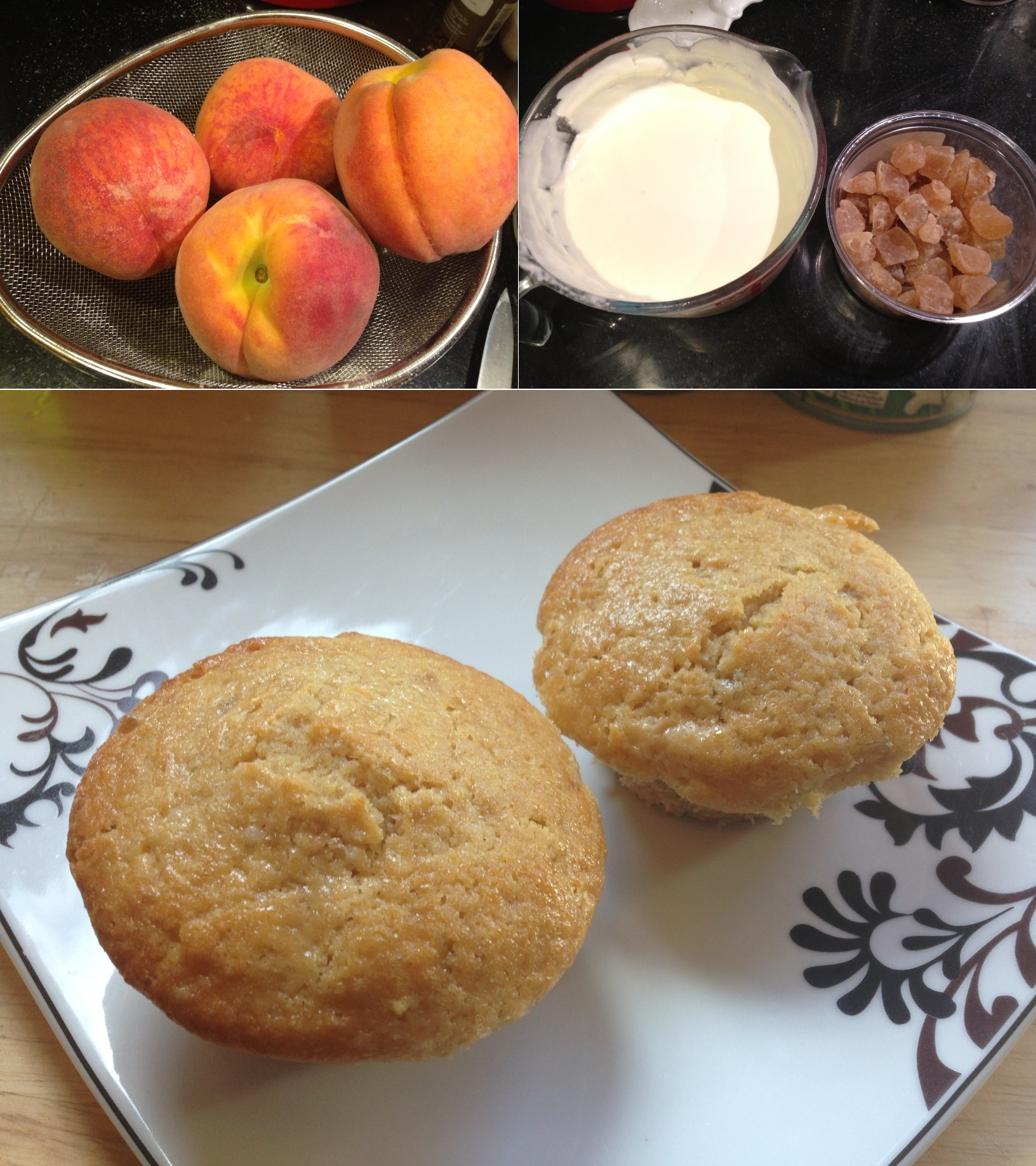 scoop of vanilla ice cream peaches teas home made grilled peaches with ...