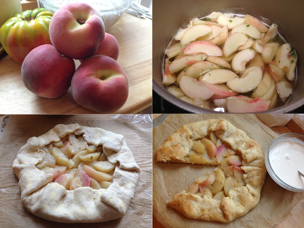 Well Dined | White Peach and Lemon Thyme Galette