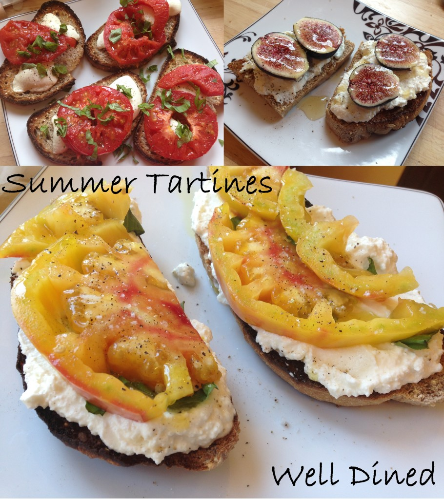 Well Dined | Summer Tartines