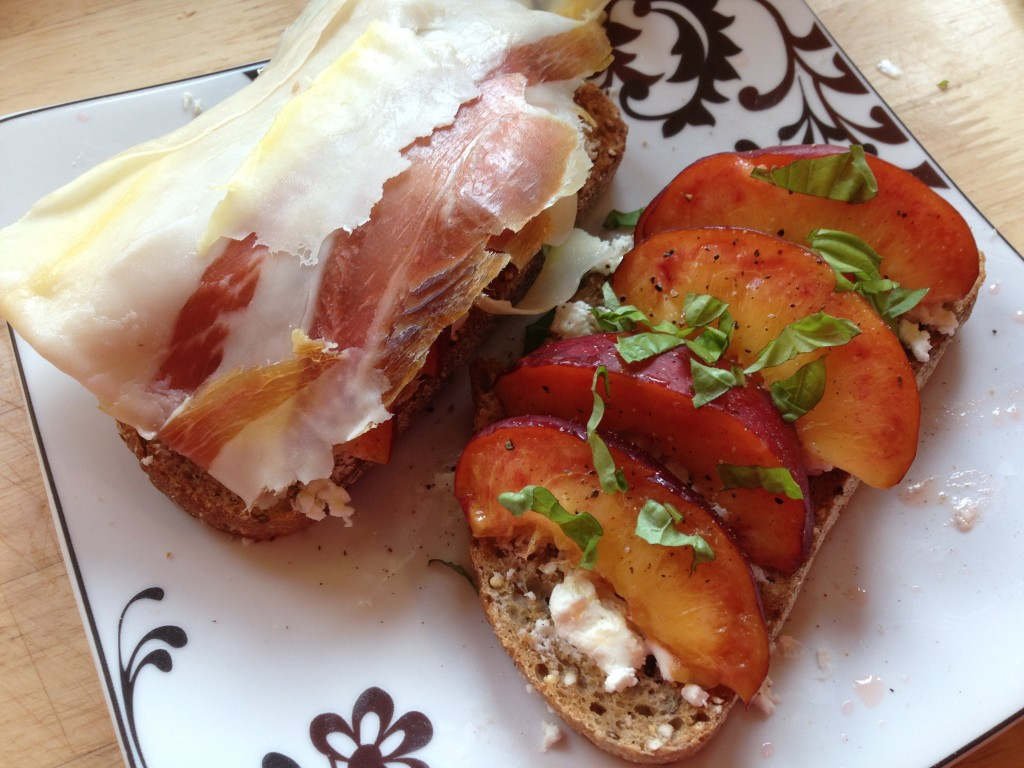 Well Dined | Prosciutto and Nectarine Tartine