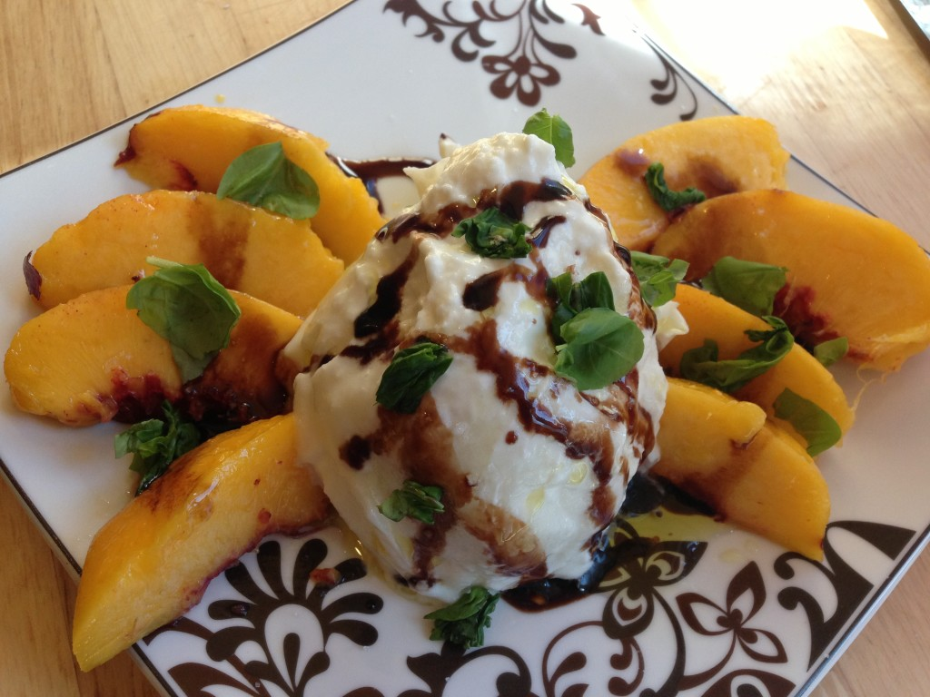Well Dined | Burrata and Peach