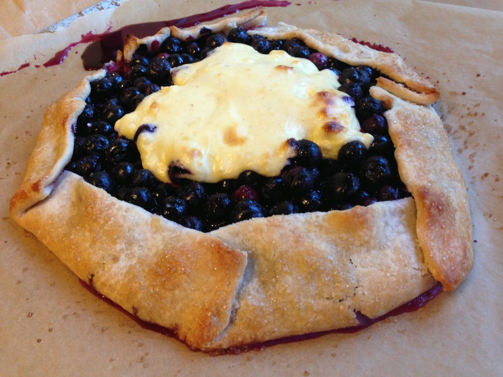 Well Dined   Blueberry Cheesecake Galette