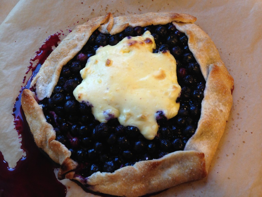 Well Dined | Blueberry Cheesecake Galette