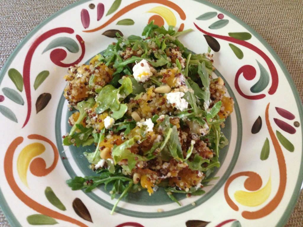Well Dined | Butternut Squash Quinoa Salad with Goat Cheese