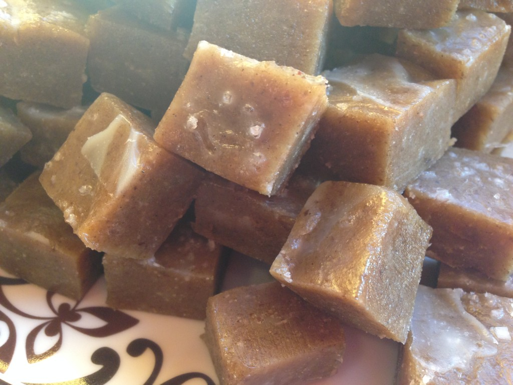 Well Dined | Raw Tahini Date Salted Caramels