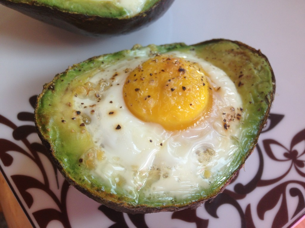 Well Dined | Baked Eggs in Avocado