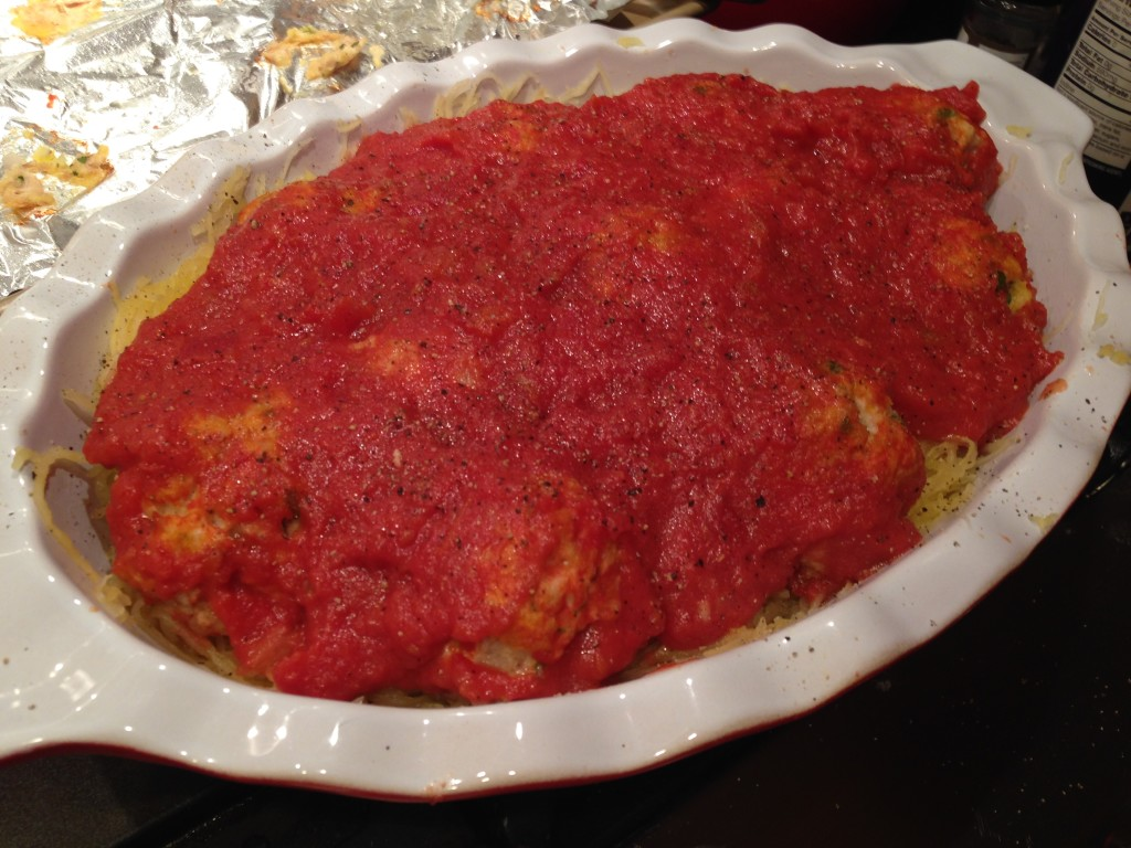 Well Dined | Chicken Parmesan Meatballs and Spaghetti Squash