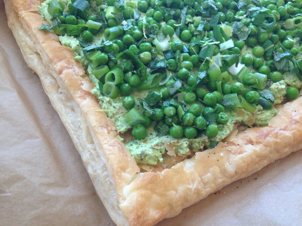 Well Dined | Pea and Ricotta Tart