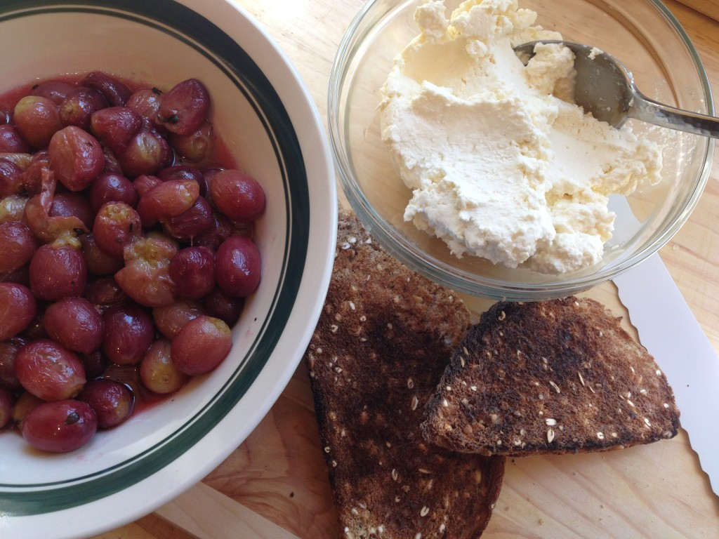 Well Dined | Roasted Grapes and Fresh Ricotta