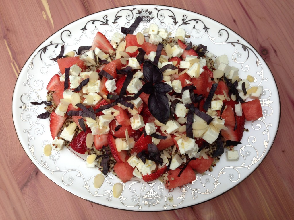 this salad is so pretty and yummy and easy and healthy and did i ...