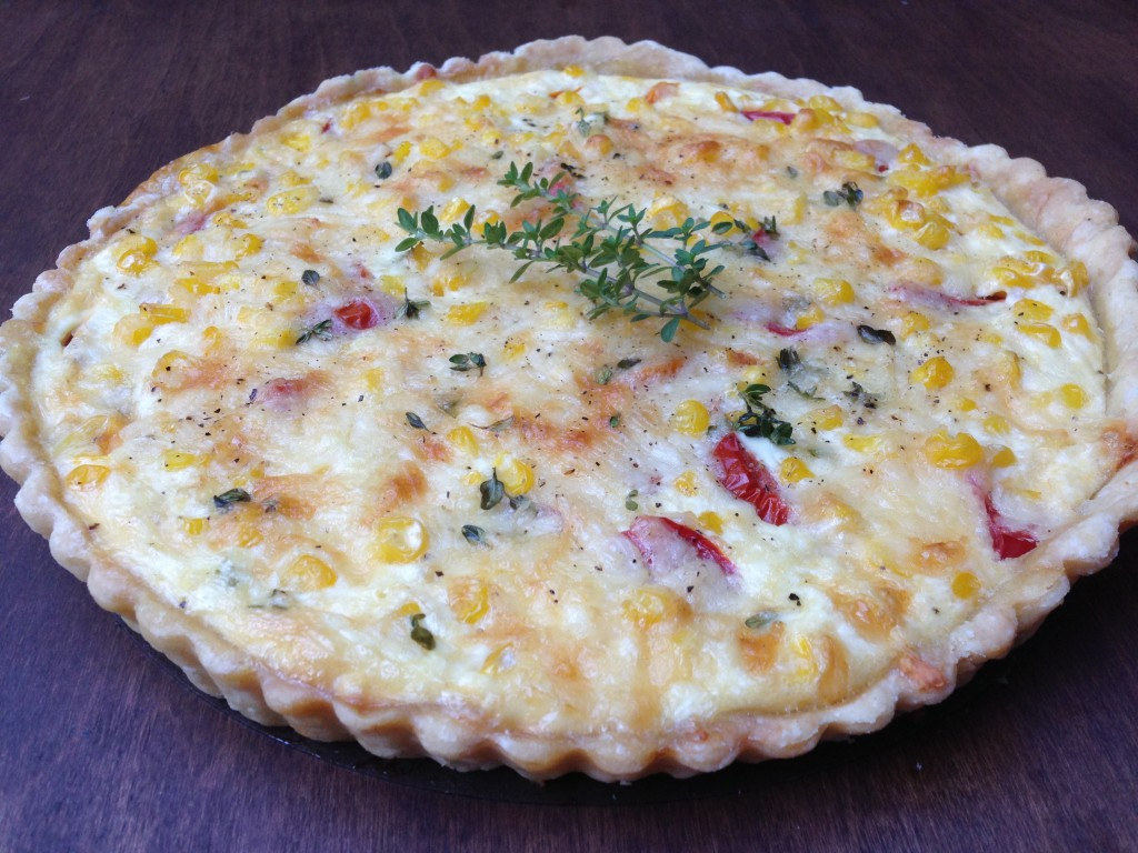Well Dined | Tomato, Corn, and Cheddar Quiche