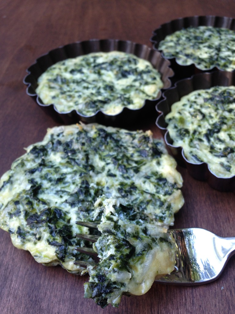 Well Dined | Mini Spinach Crustless Quiches