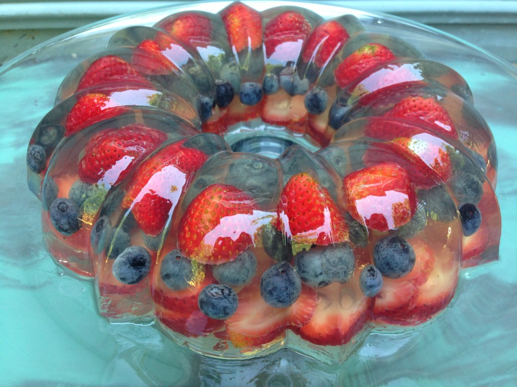 Well Dined | Red, White, and Blue Sparkling Gelatin Mold
