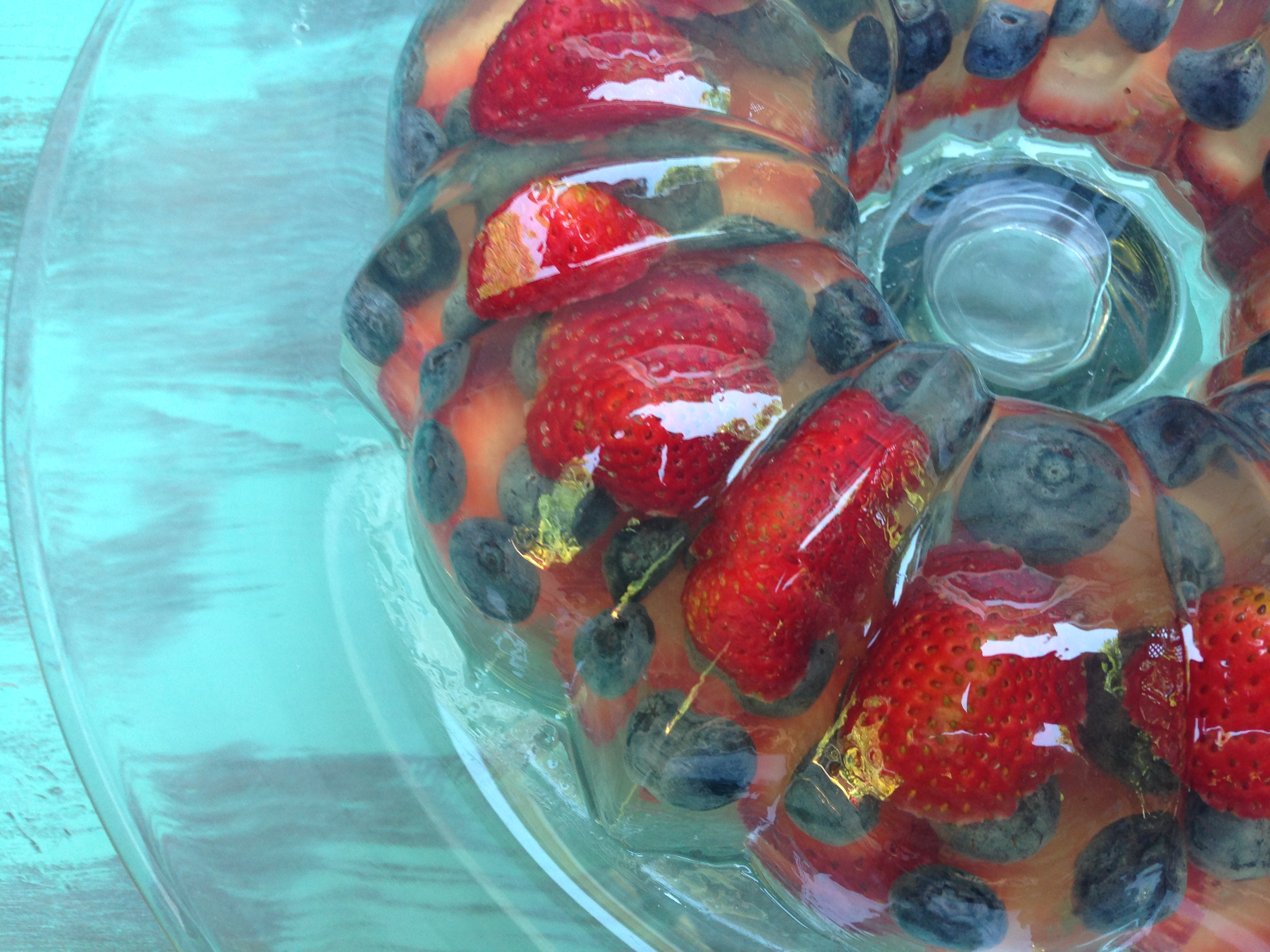 Red, White, and Blue Sparkling Wine Gelatin Mold « Well Dined