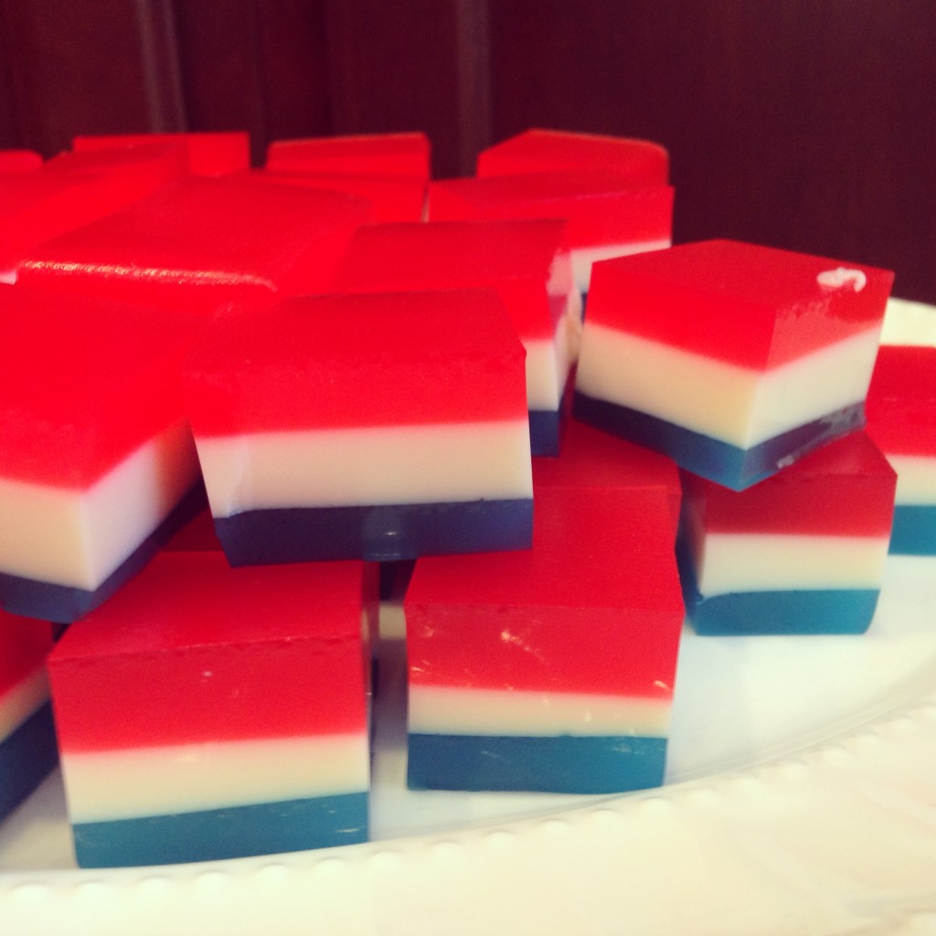 Well Dined | Red, White, and Blue Jell-O Shots
