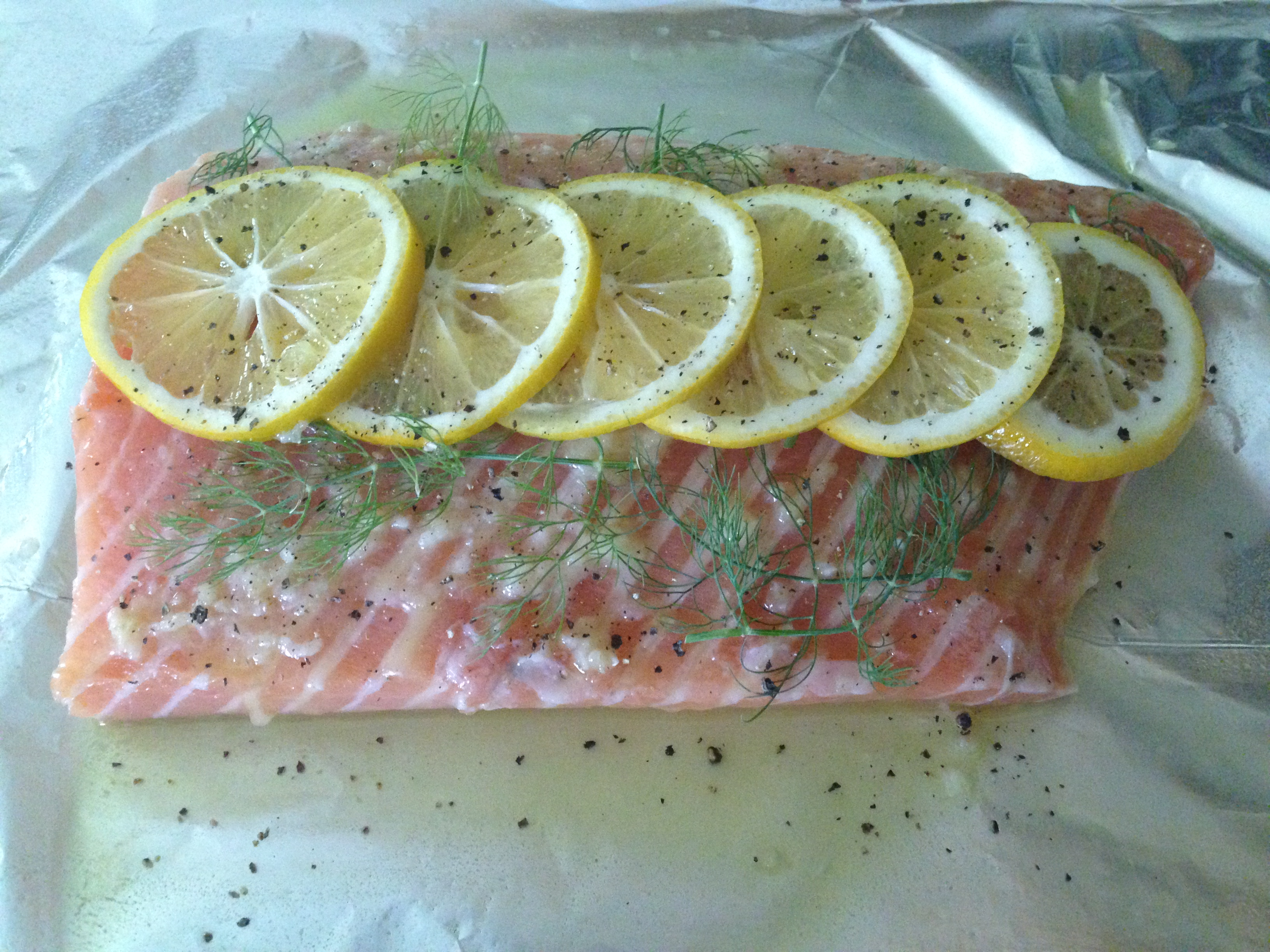 Garlic Butter Salmon with Dill « Well Dined