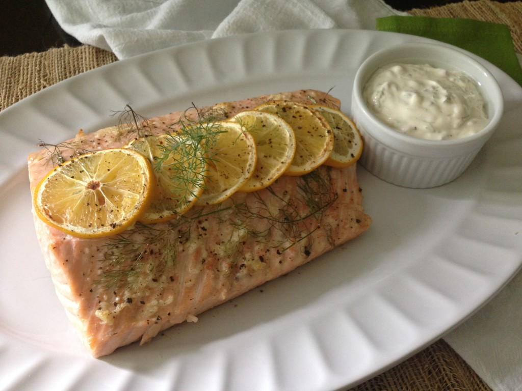 Well Dined | Garlic Butter Salmon with Dill