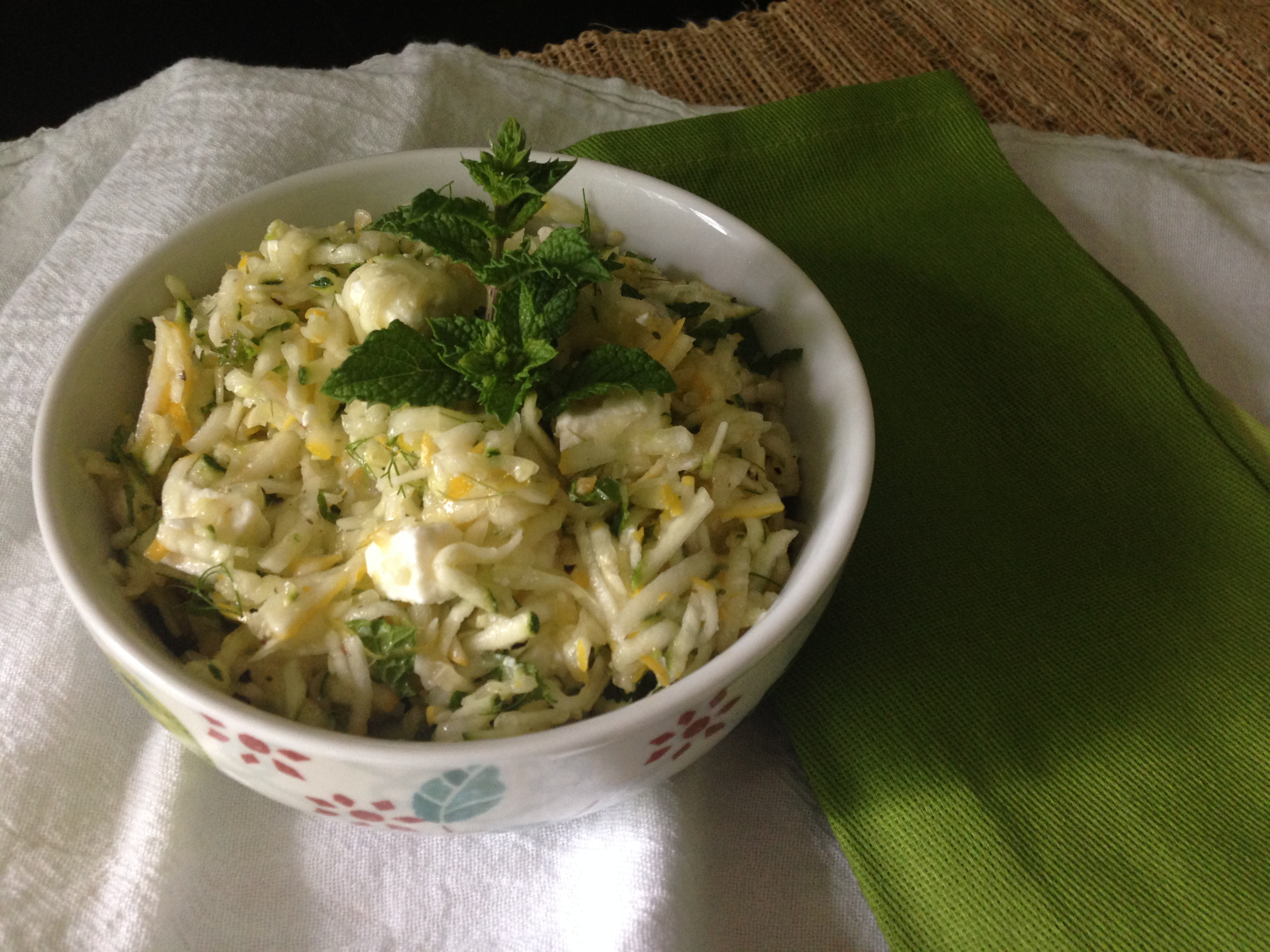 Greek Style Zucchini Salad « Well Dined