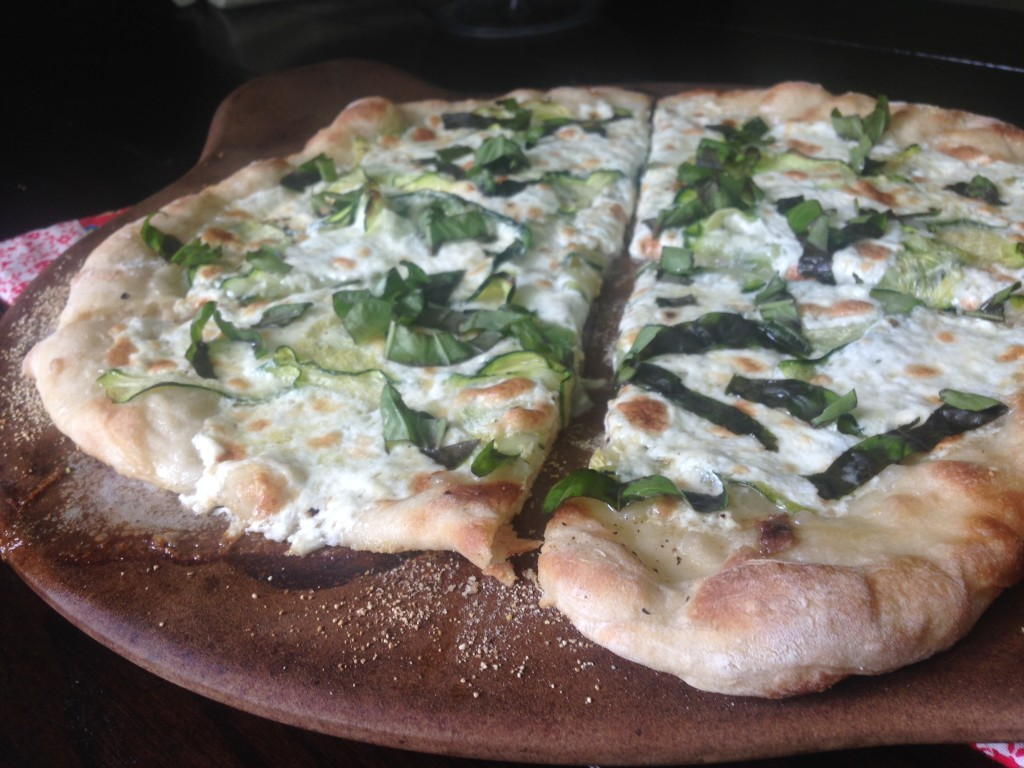 Well Dined | Zucchini Pizza with Burrata and Anchovy