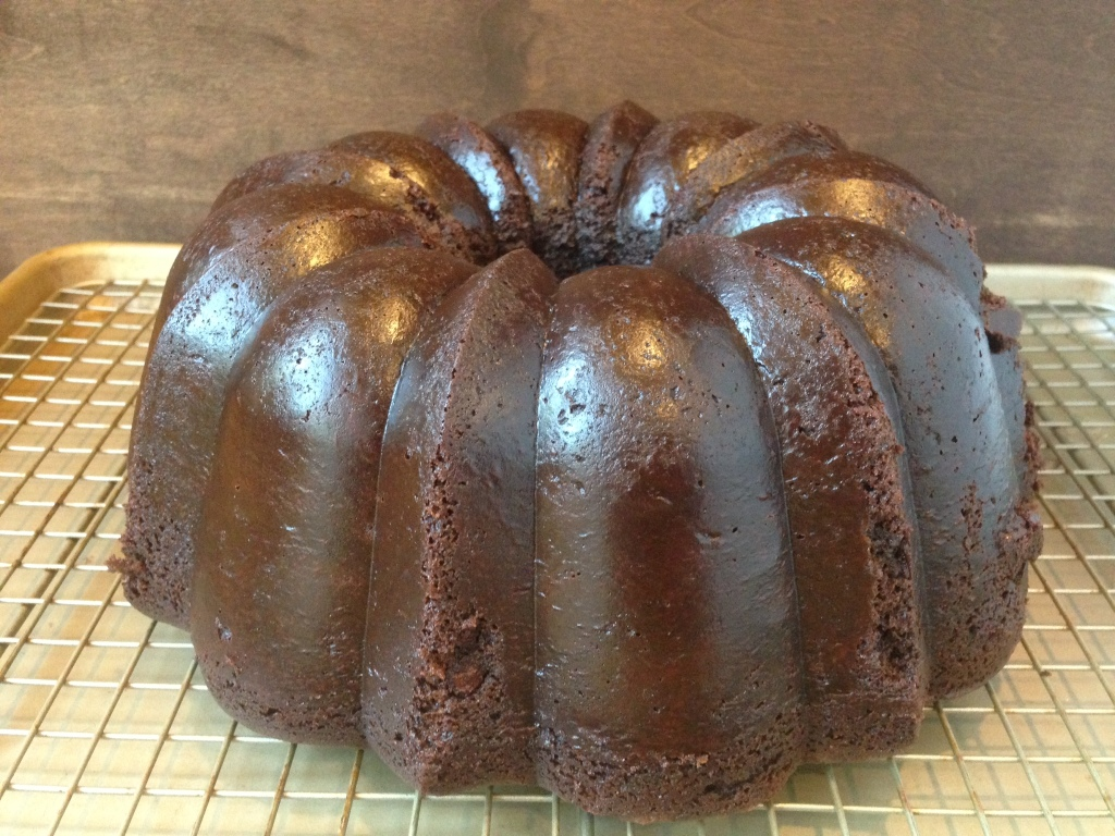 Well Dined | Chocolate Sour Cream Bundt Cake