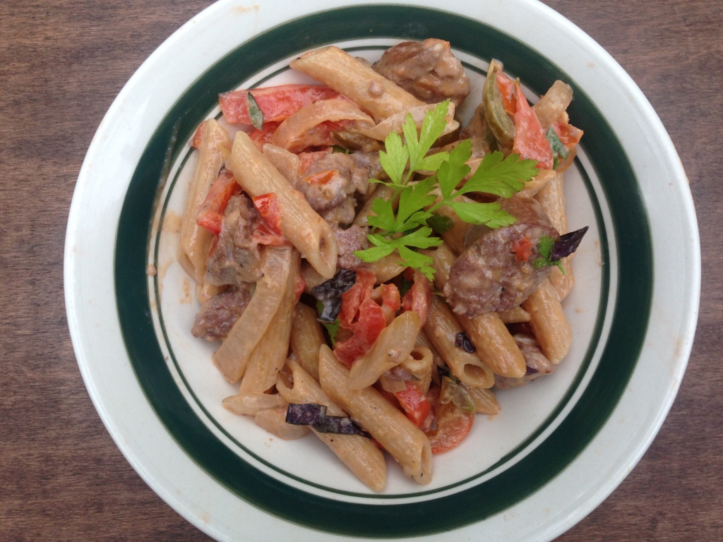 Well Dined | Pasta with Sausage and Peppers