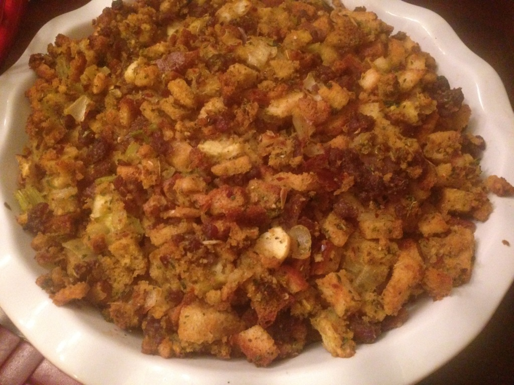 Well Dined | Thanksgiving Dinner 2014 Sage Stuffing with Sausage and Apple