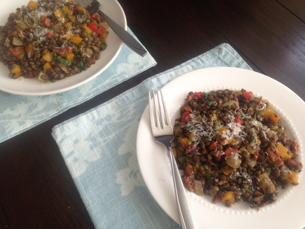 Well Dined | Lentil Salad with Walnuts and Herbs