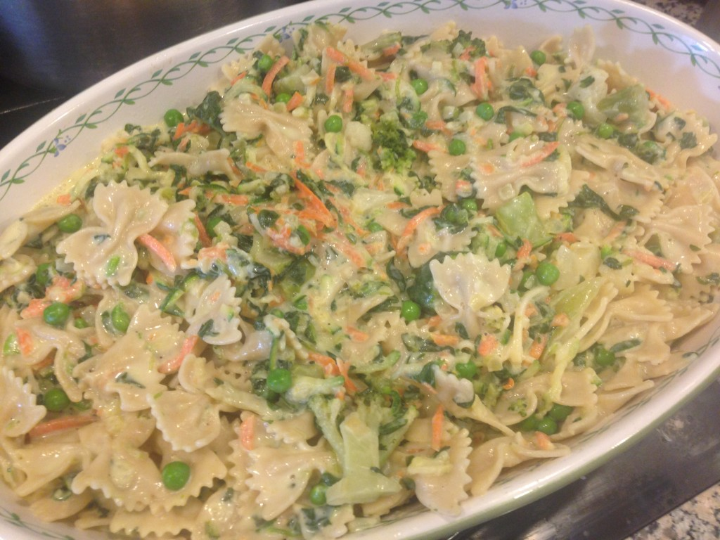 Well Dined | Vegetable Alfredo Pasta