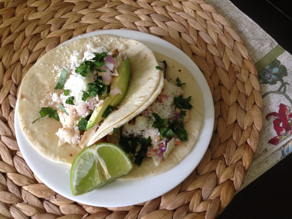 Well Dined | Fish Tacos with Chipotle Mayo and Coleslaw