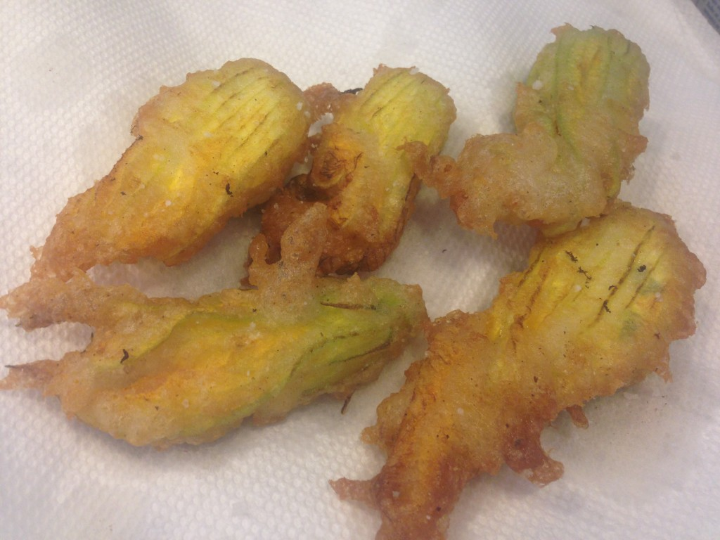 Well Dined | Stuffed Squash Blossoms
