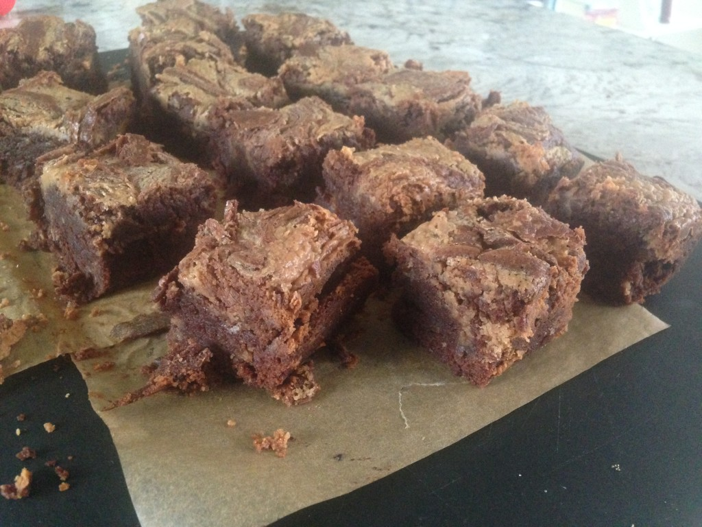 Well Dined | Salty Peanut Butter Swirl Brownies