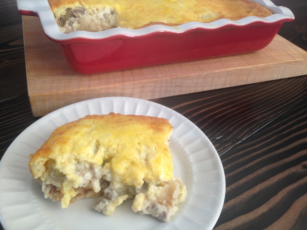 Well Dined | Biscuits and Gravy Casserole