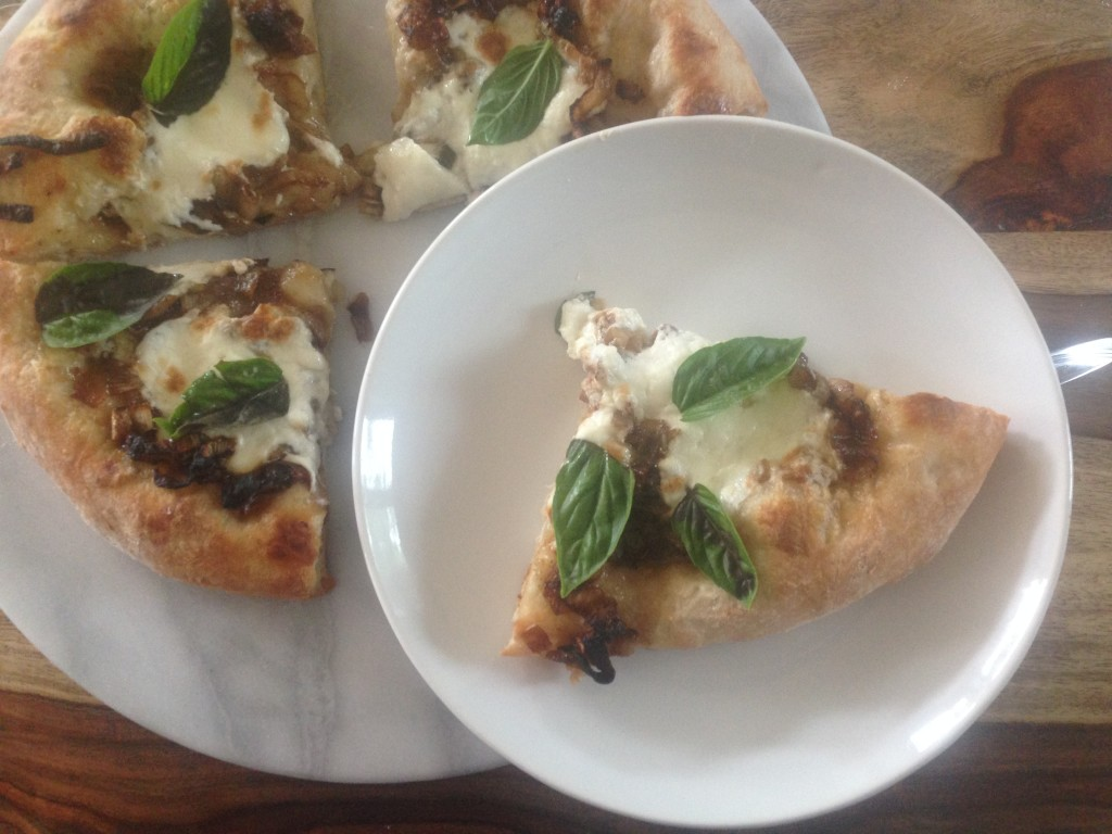 Well Dined | Caramelized Onion and Burrata Pizza