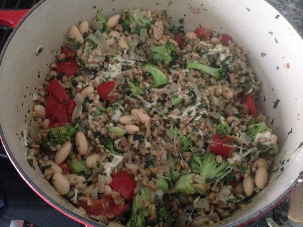 Well Dined | Broccoli Farro Casserole