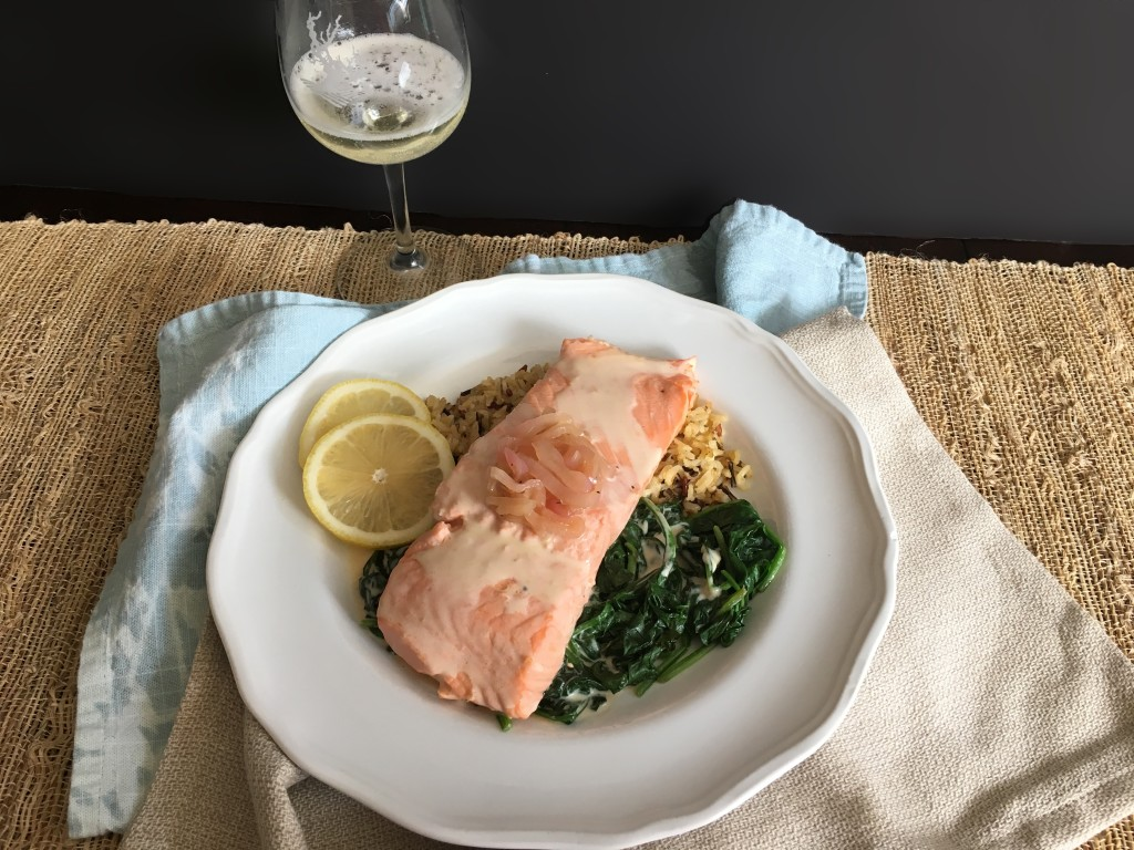Well Dined | Prosecco Poached Salmon