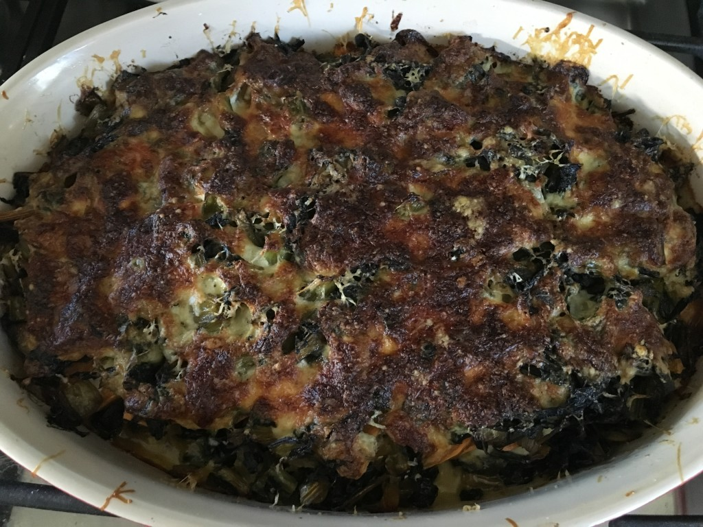Well Dined | Sweet Potato and Swiss Chard Gratin
