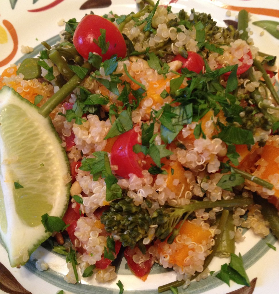 Well Dined | Quinoa with Butternut Squash and Broccolini