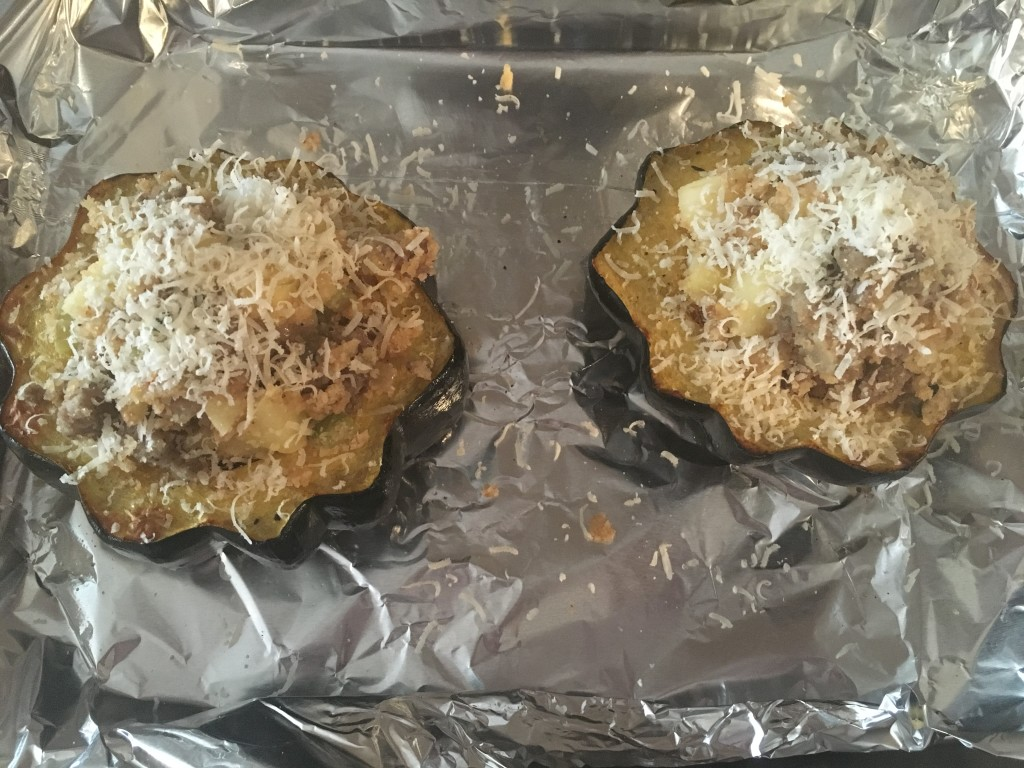 Well Dined | Sausage and Apple Stuffed Acorn Squash