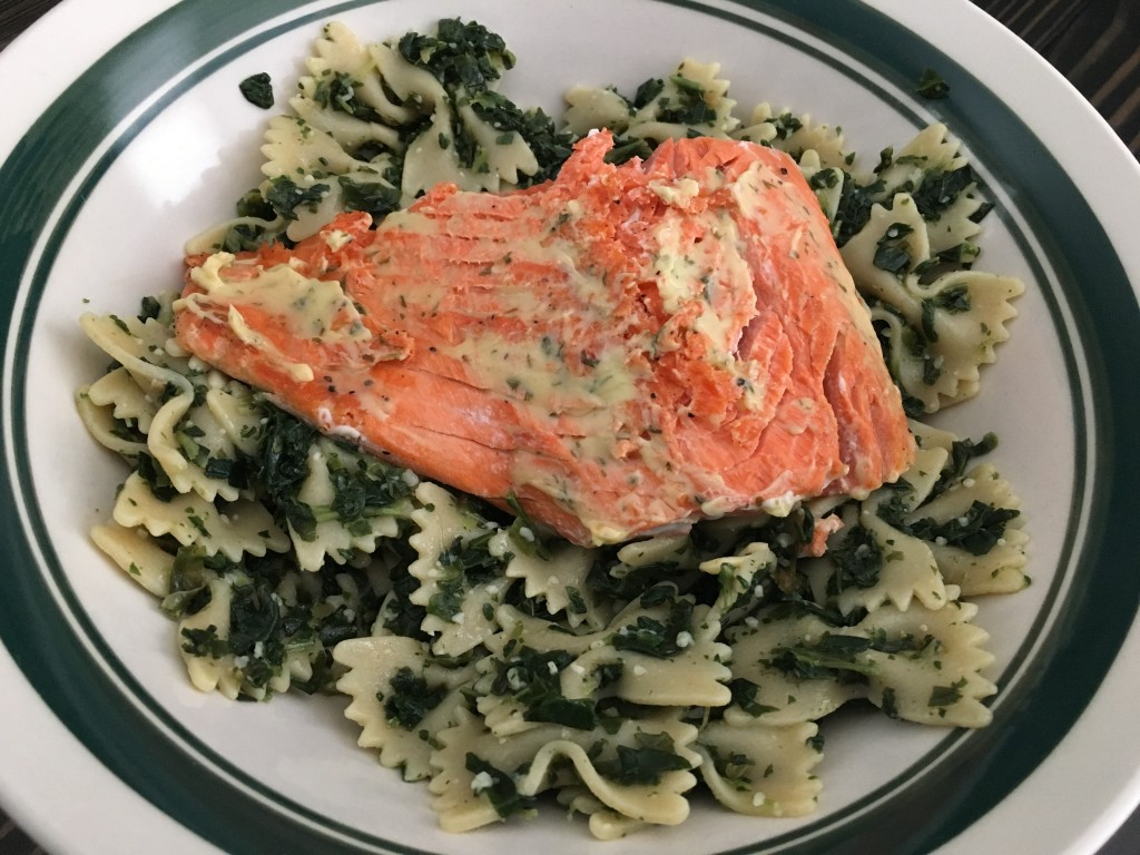 Well Dined | Seared Salmon with Lemon Herb Butter and Pasta