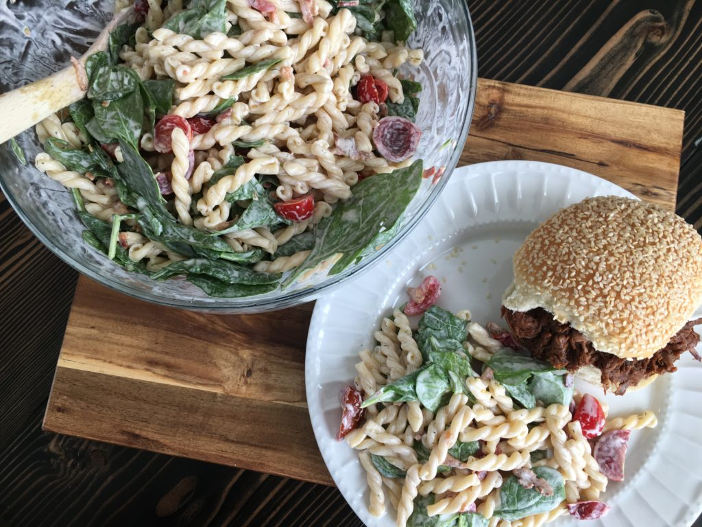 Well Dined | BBQ Beef and BLT Pasta Salad