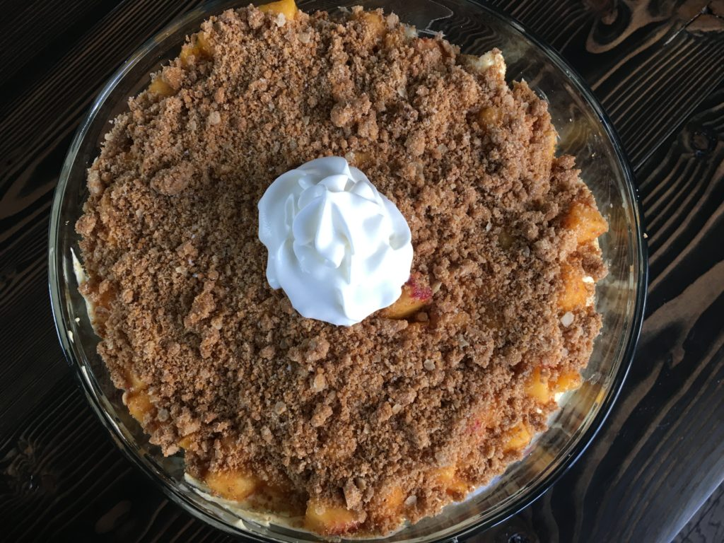 Well Dined | Peach Cobbler Trifle