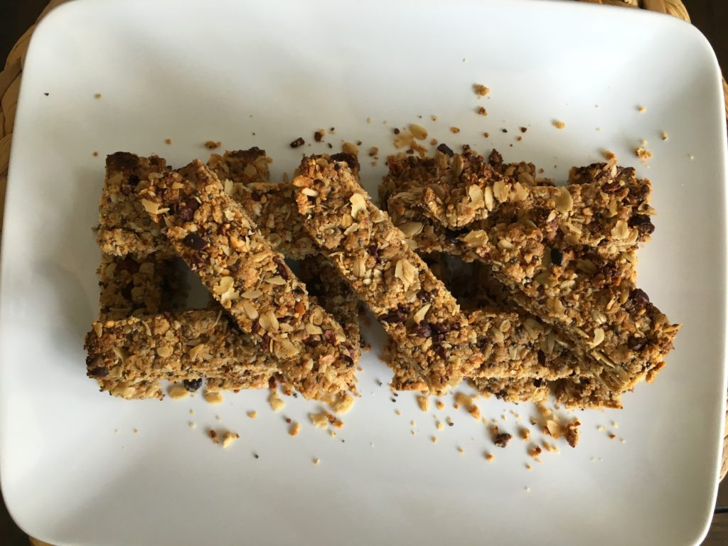 Well Dined | Cacao, Date, and Nut Granola Bars